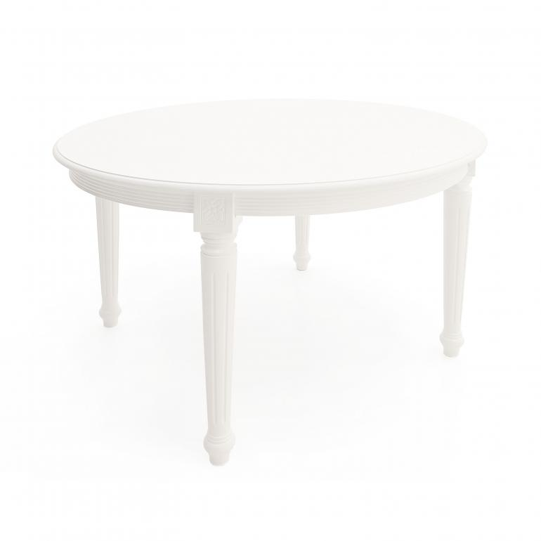 classic style round wooden table