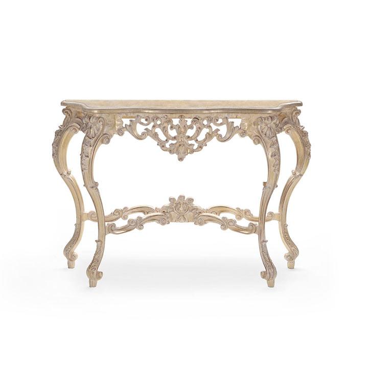 consolle legno barocco wood baroque console table selene 918