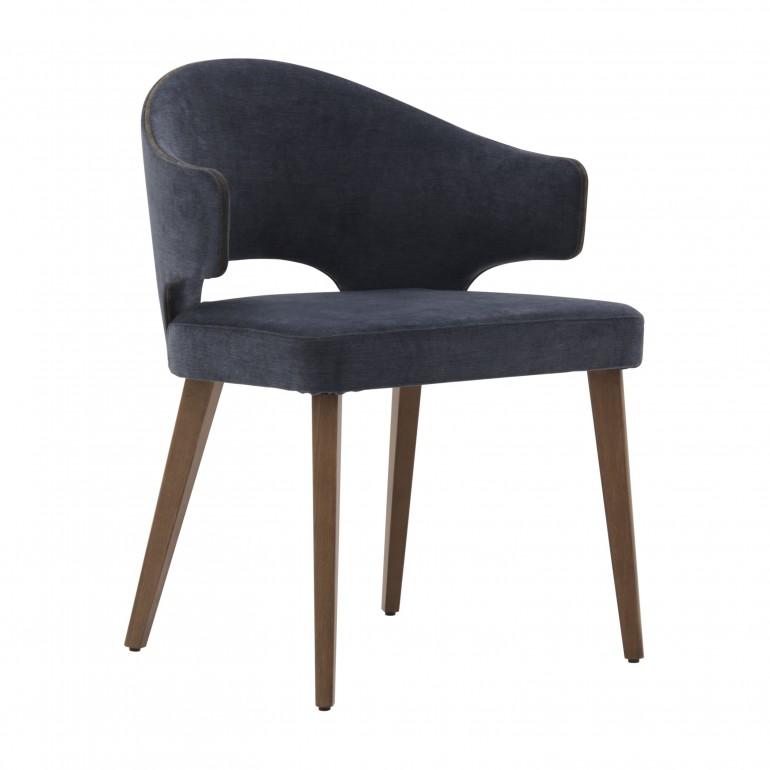 contemporary italian wood blue armchair eva 368