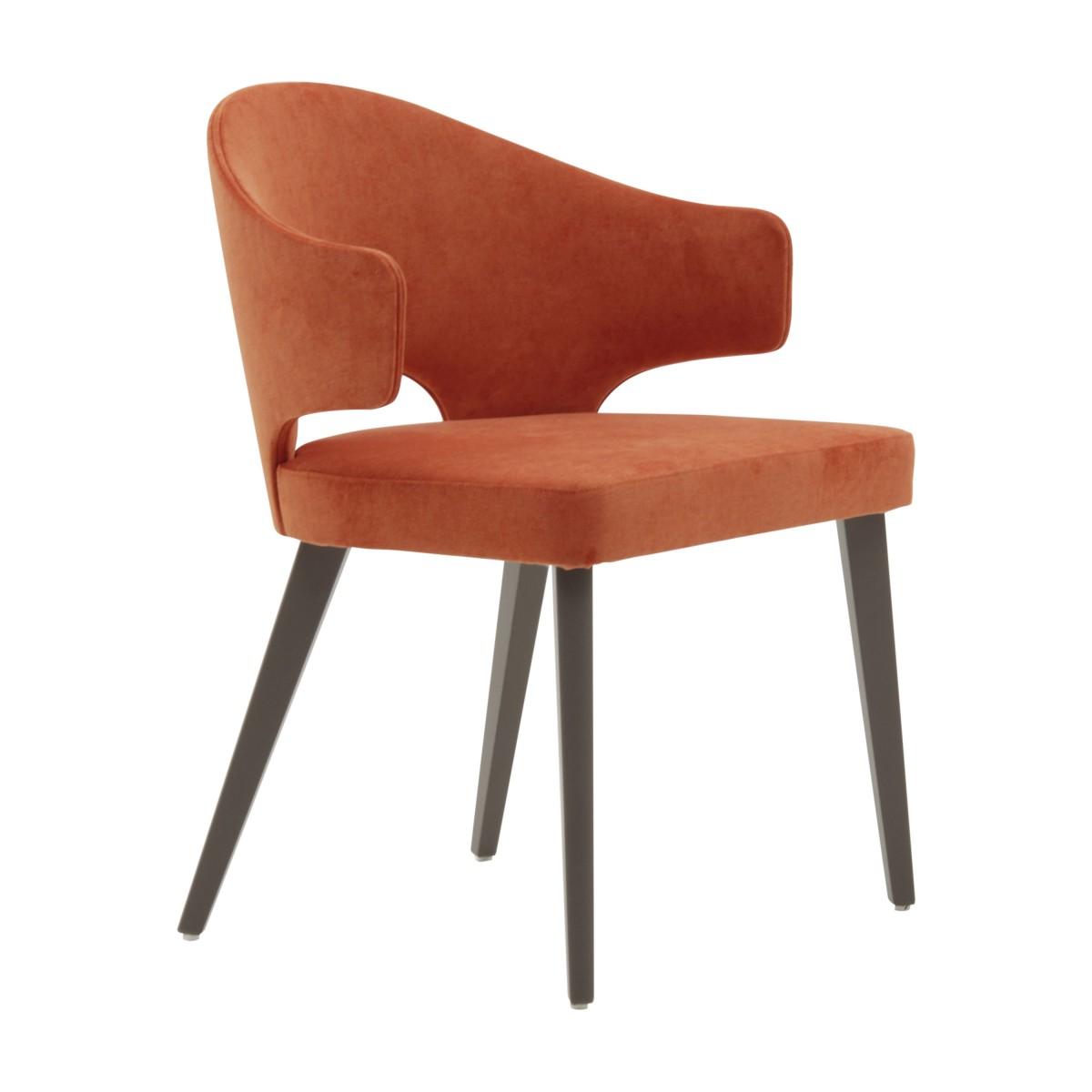 contemporary italian wood orange armchair eva 9781