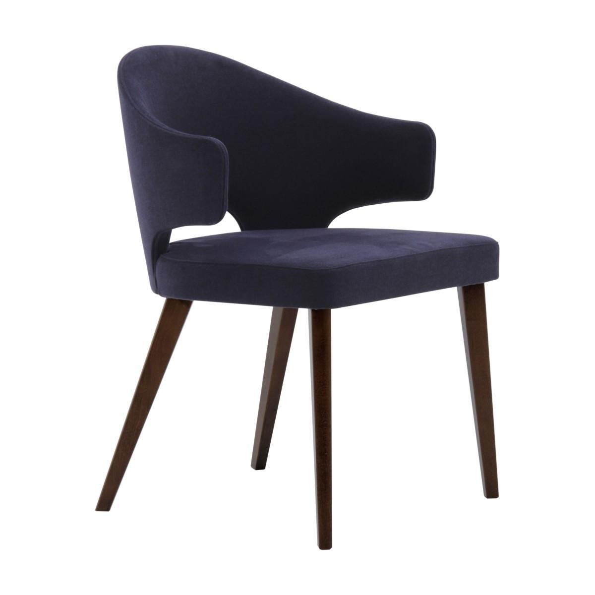 contemporary italian wood purple armchair eva 5642