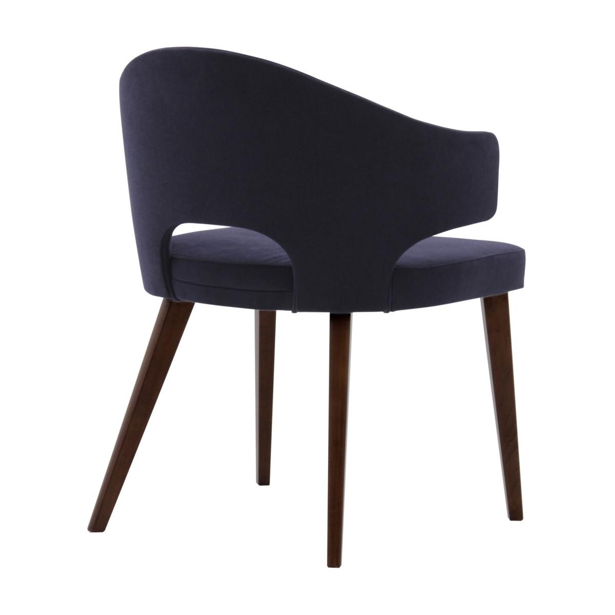 contemporary italian wood purple armchair eva1 9155