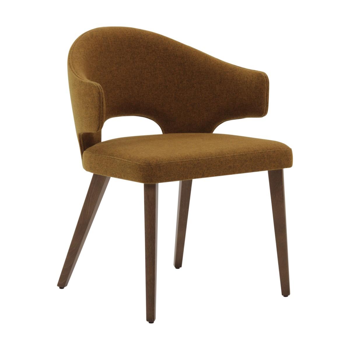 contemporary italian wood yellow armchair eva 6870
