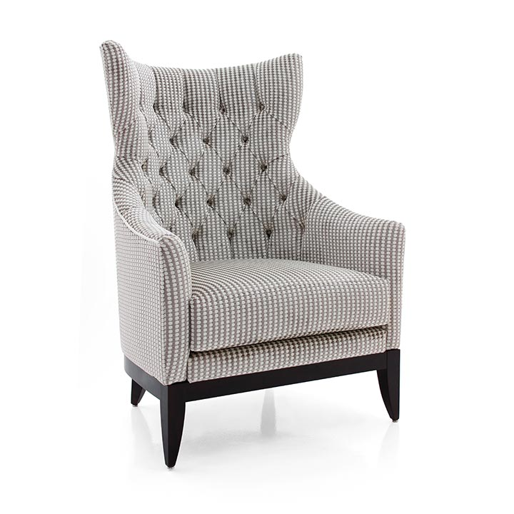 contemporary style wood armchair queen 4267