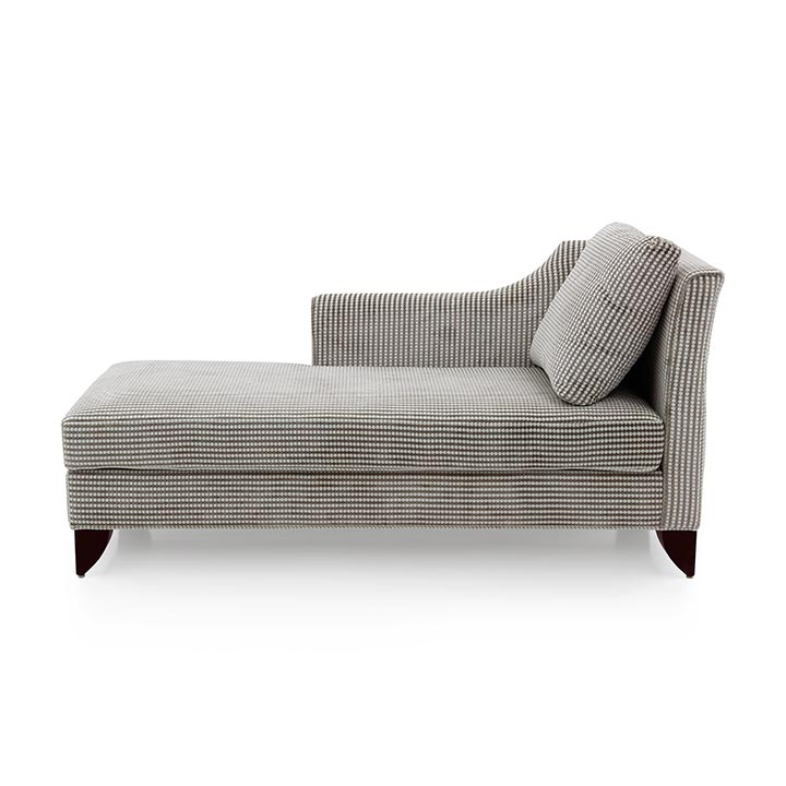 contemporary style wooden chaise longue