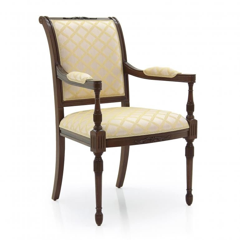 empire style wooden small armchair