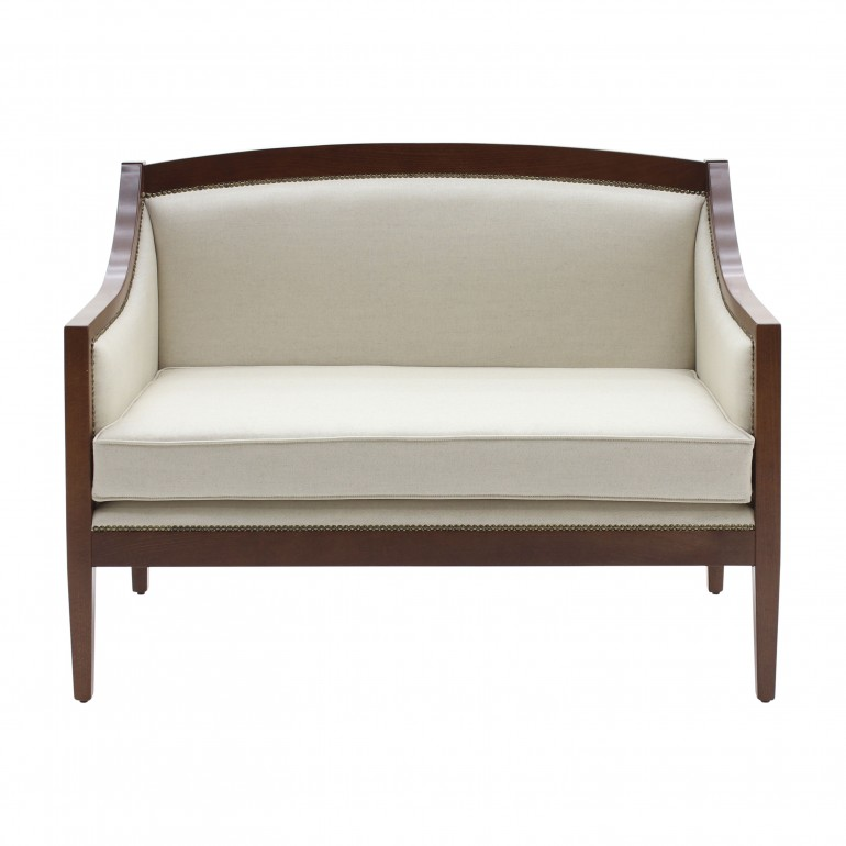 art deco style wooden sofa