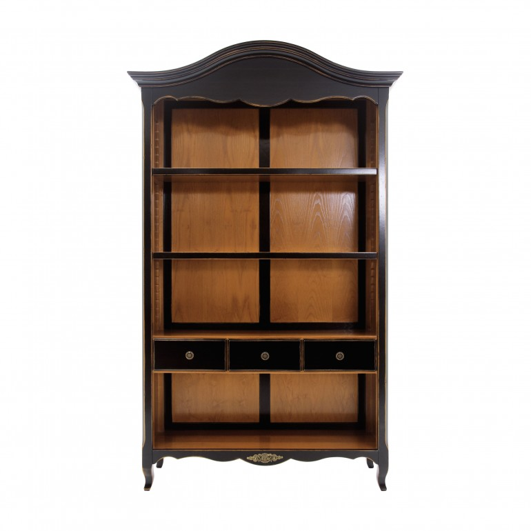 classic style wooden bookcase