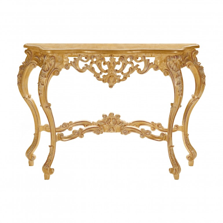 baroque style wooden console table