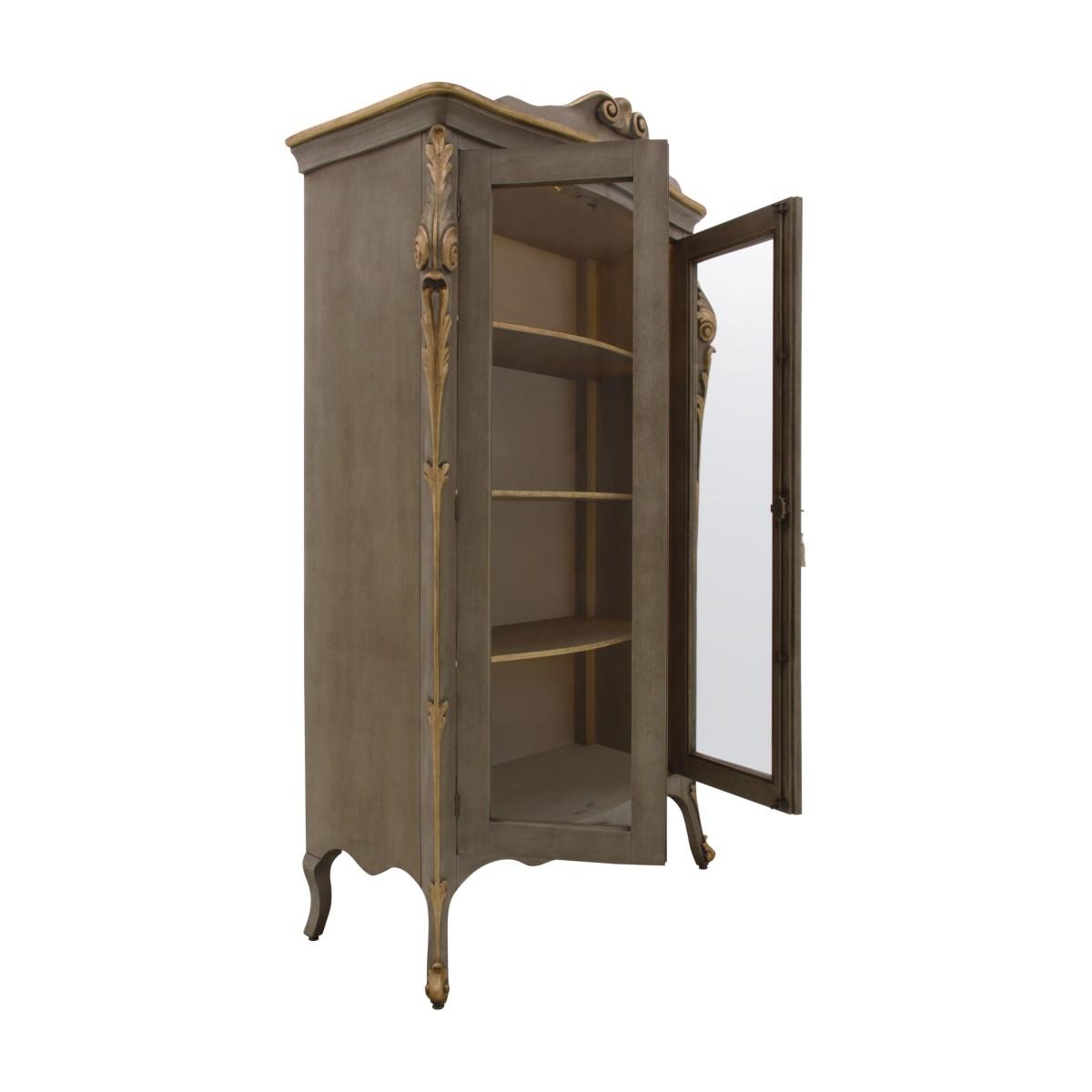 italian classic glass cupboard aura 3 8889