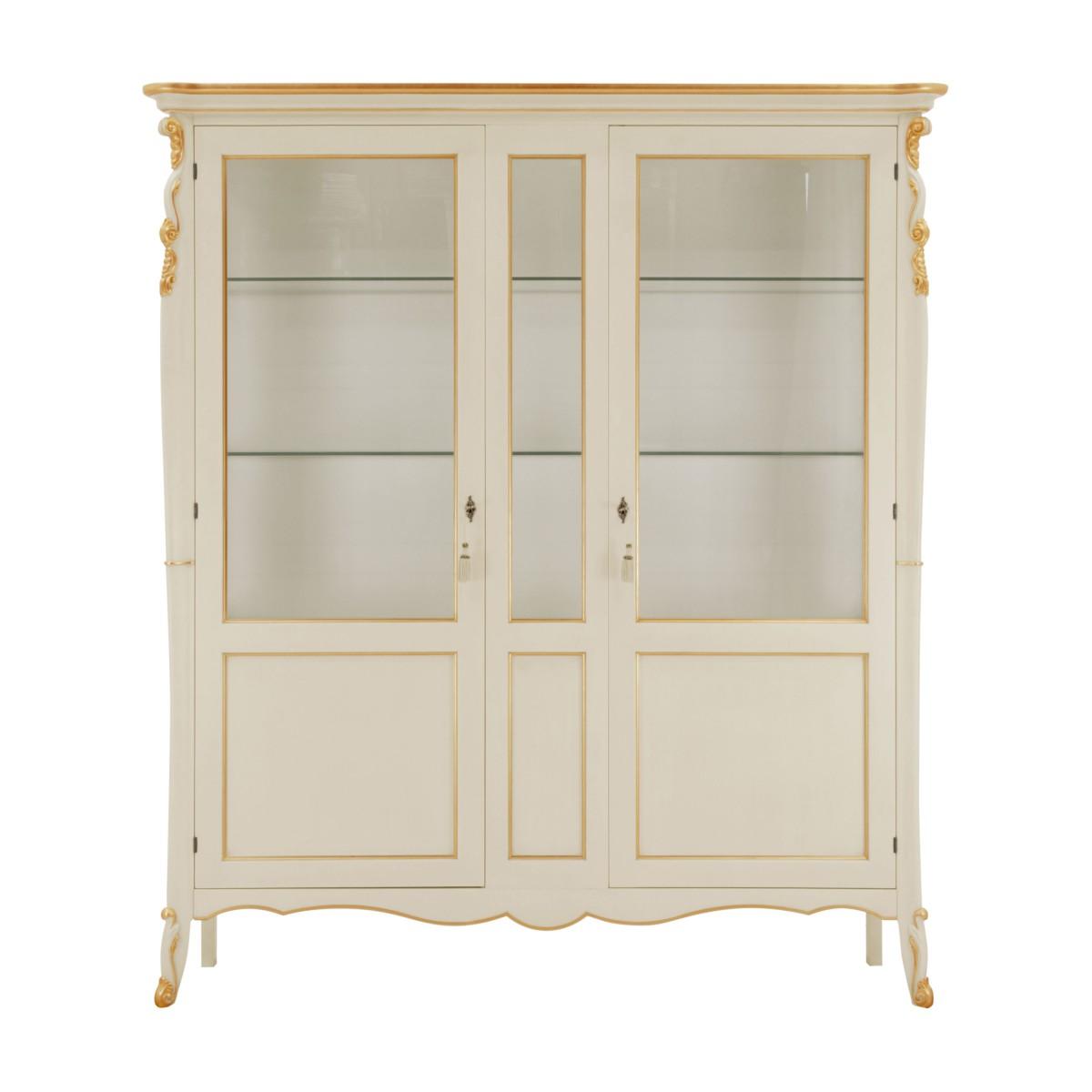 italian classic glass cupboard cinzia 0 8043