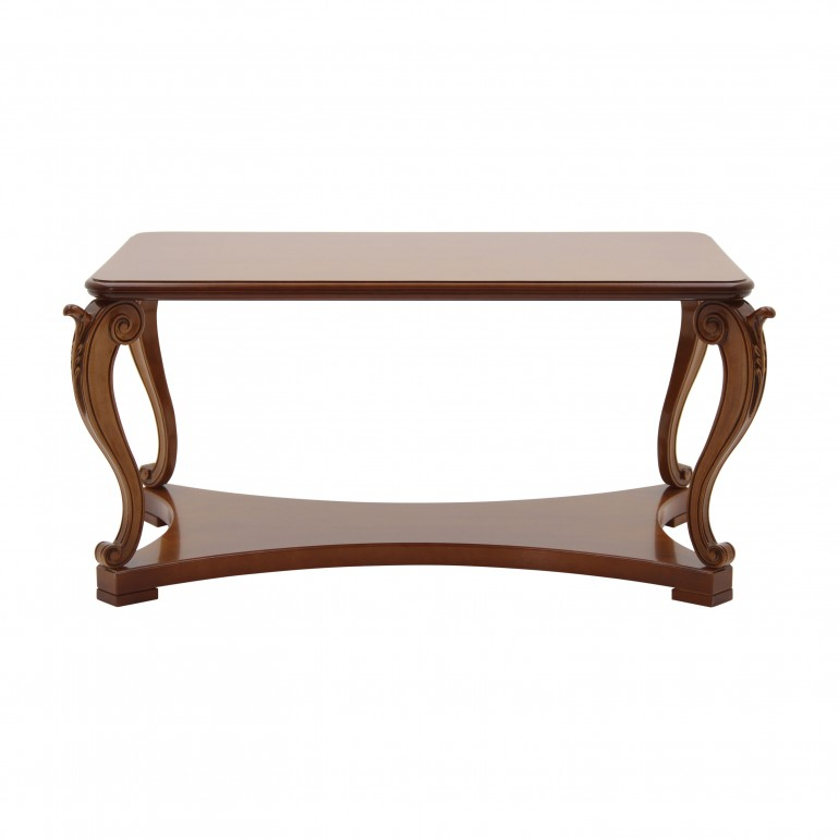 classic style low wooden table