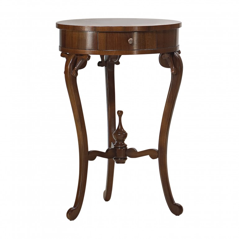 classic style small round wooden table