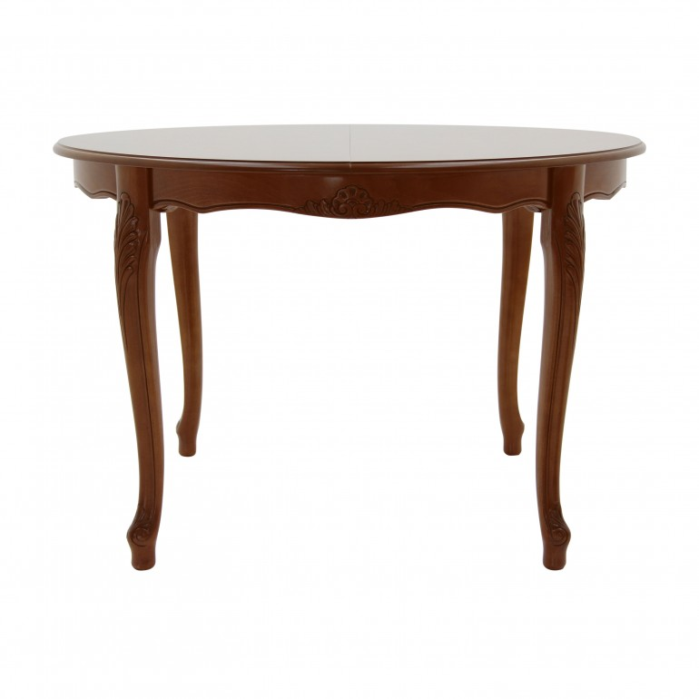 round lacquered wooden table