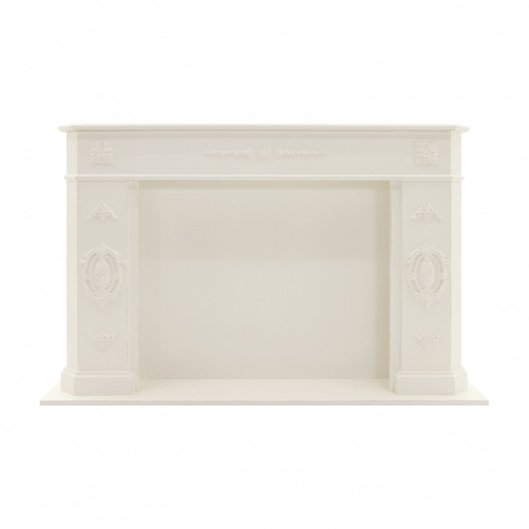 classic style mock wooden fireplace