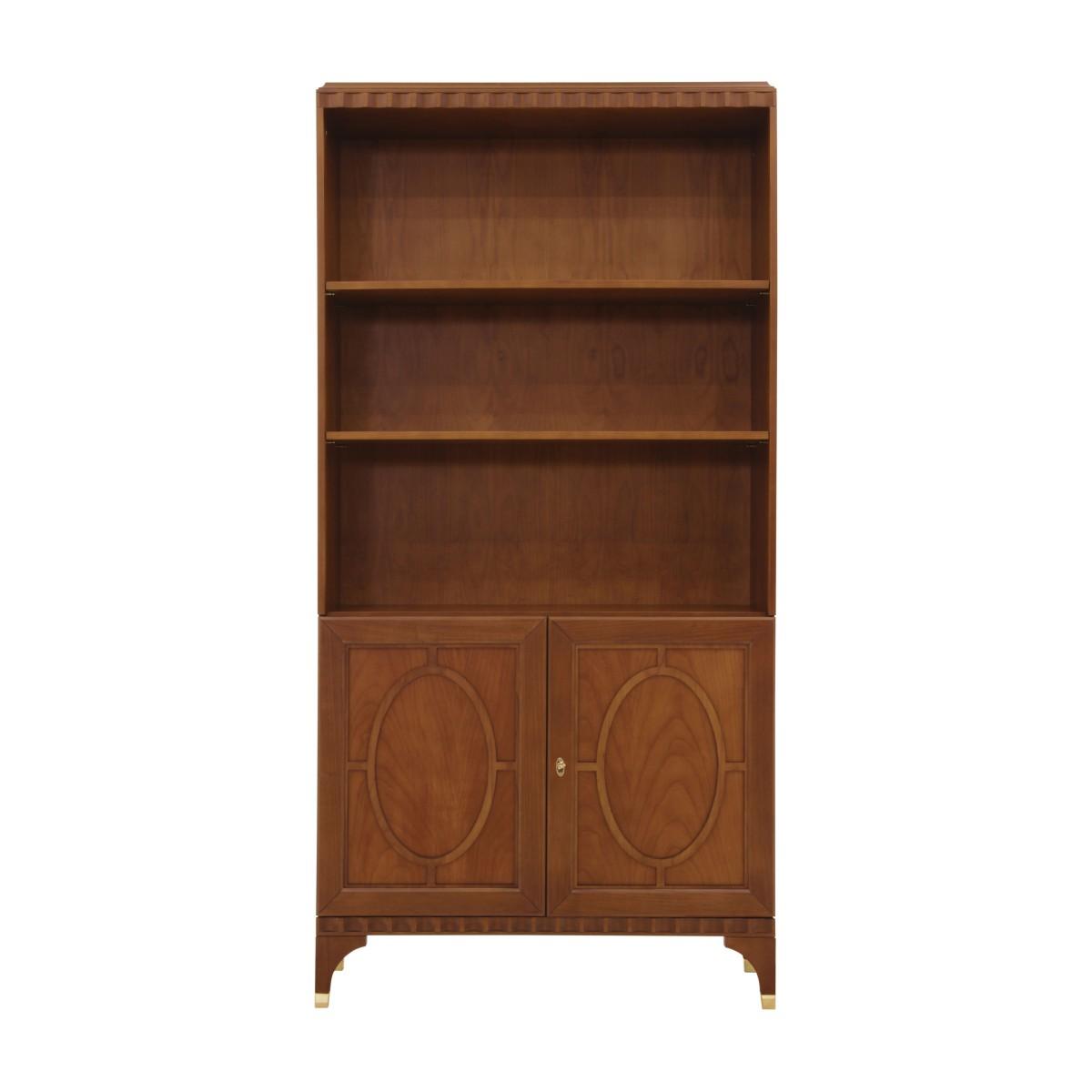 italian modern bookcase ellipse 2320