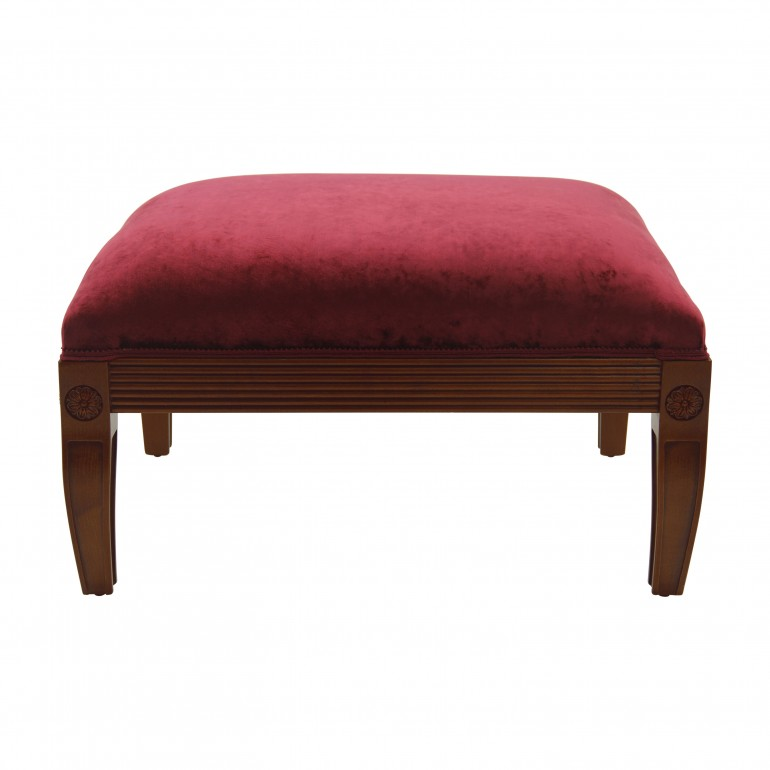 classic style wooden ottoman