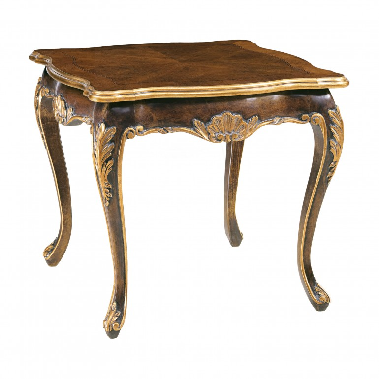 square 61 cm wooden table
