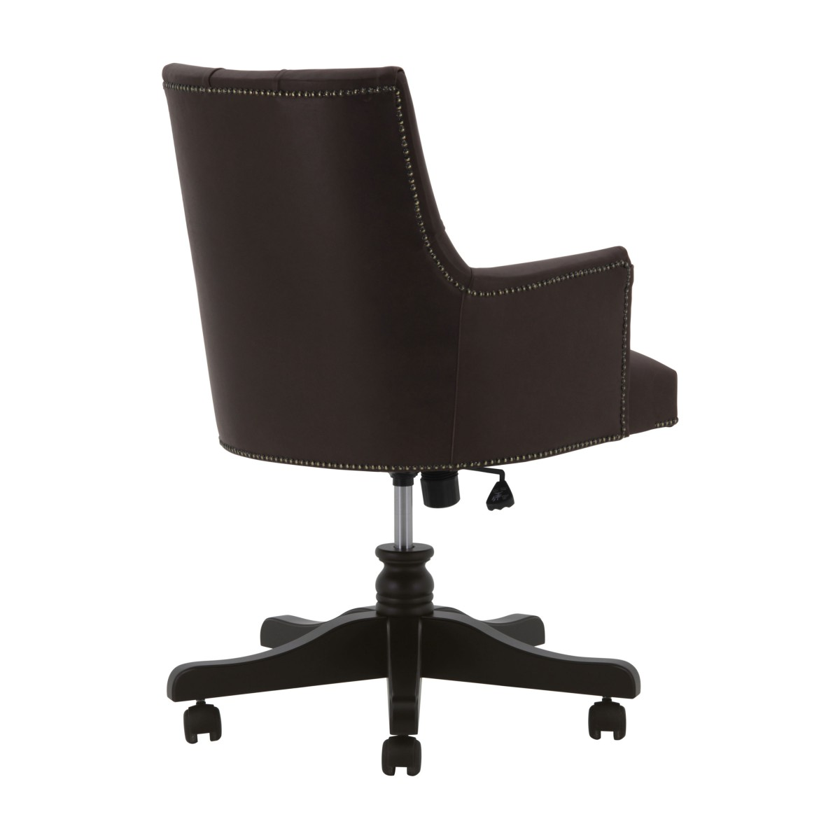 leather swivel armchair edward 2 6611
