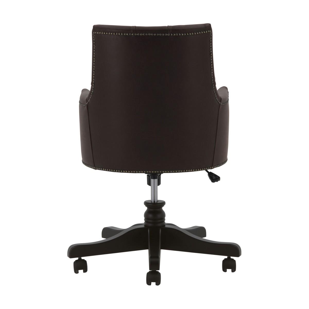 leather swivel armchair edward 3 6968