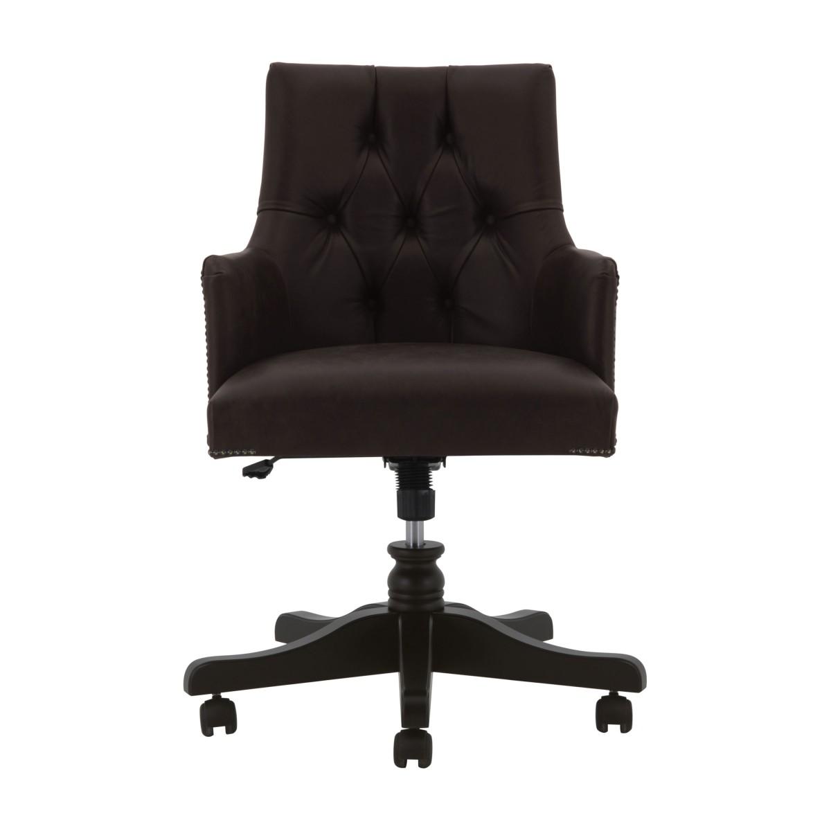 leather swivel armchair edward 3991