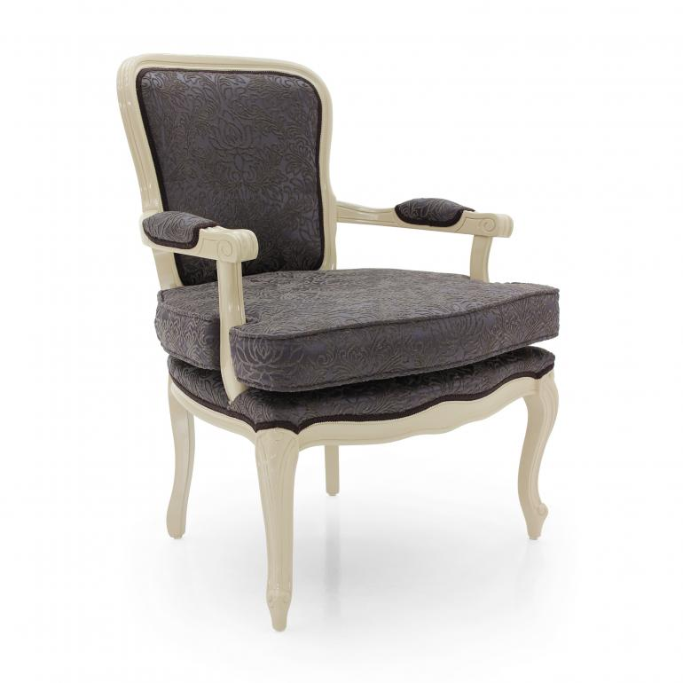 luigi xvi style wood armchair astrid 3091