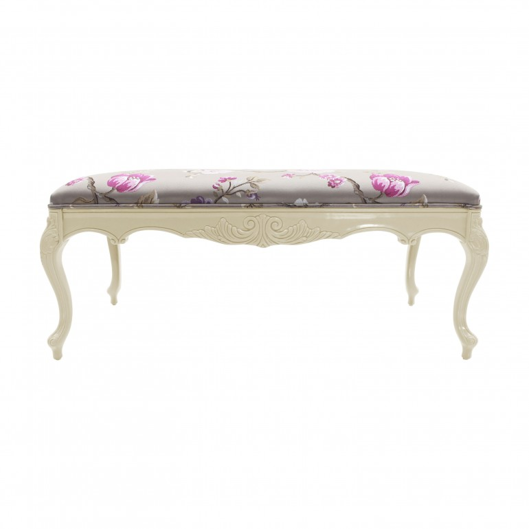 classic style lacquered wooden bench