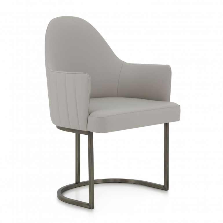 contemporary style armchair with wood structure