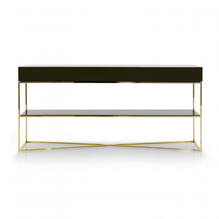 modern style metal console table