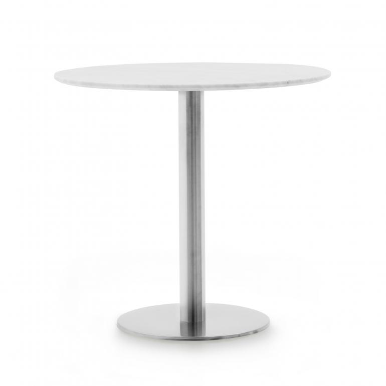 modern style round marble table