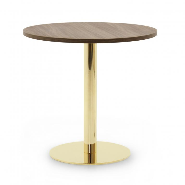 modern style round metal table