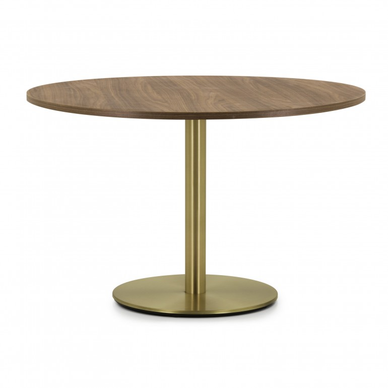 contemporary style table with metal structure