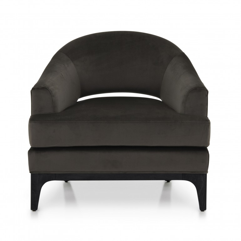 contemporary style fabric armchair