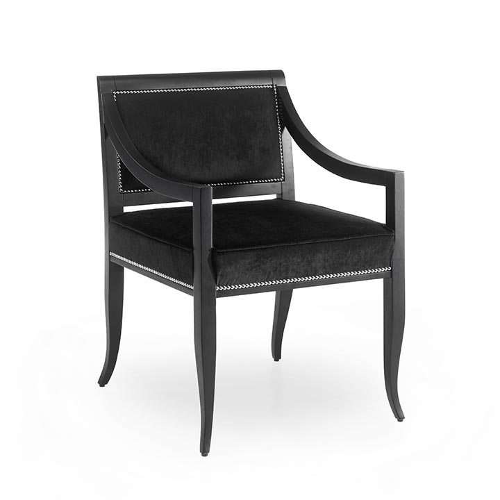 modern style wood armchair calliope b 2603