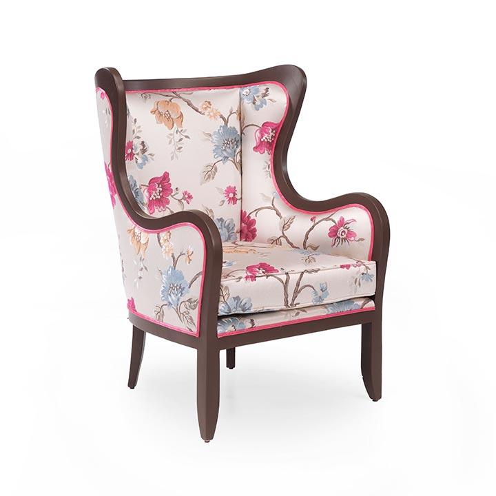 modern style wood armchair clara 7404