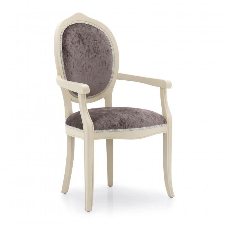 contemporary style wooden small armchair