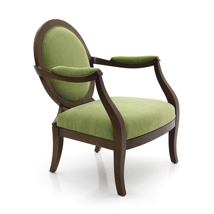 art deco style wooden armchair