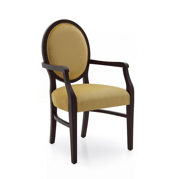 modern style wood armchair jenny 551