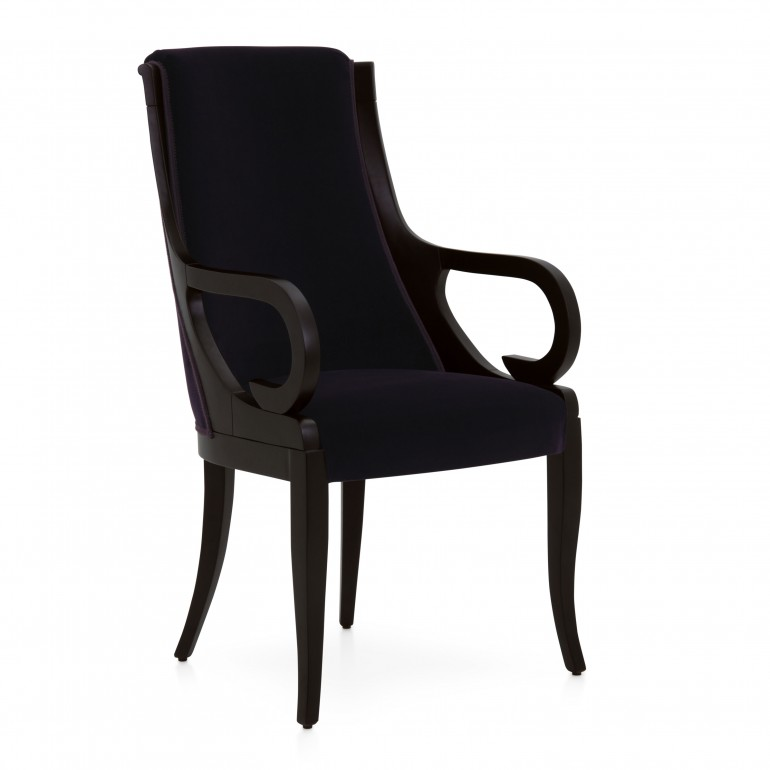 modern style wood armchair letizia 3608