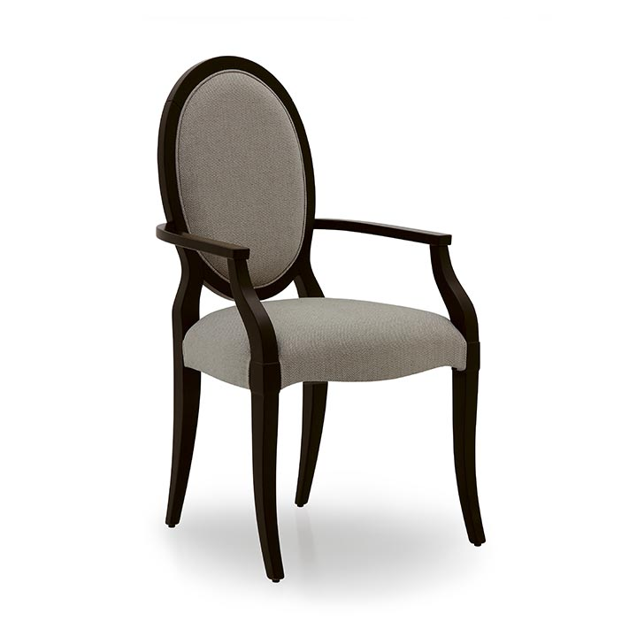 art deco style wooden small armchair