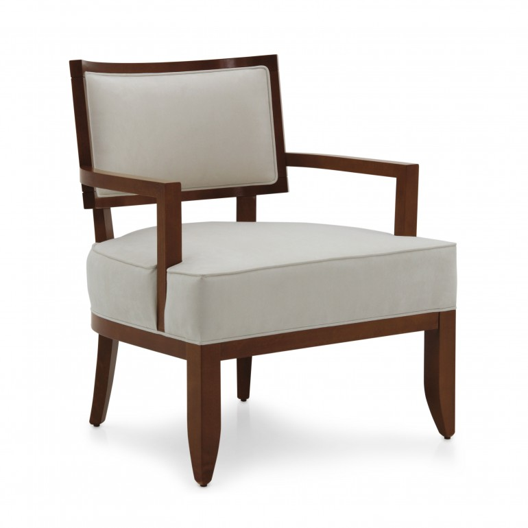 modern style wood armchair nora 1011