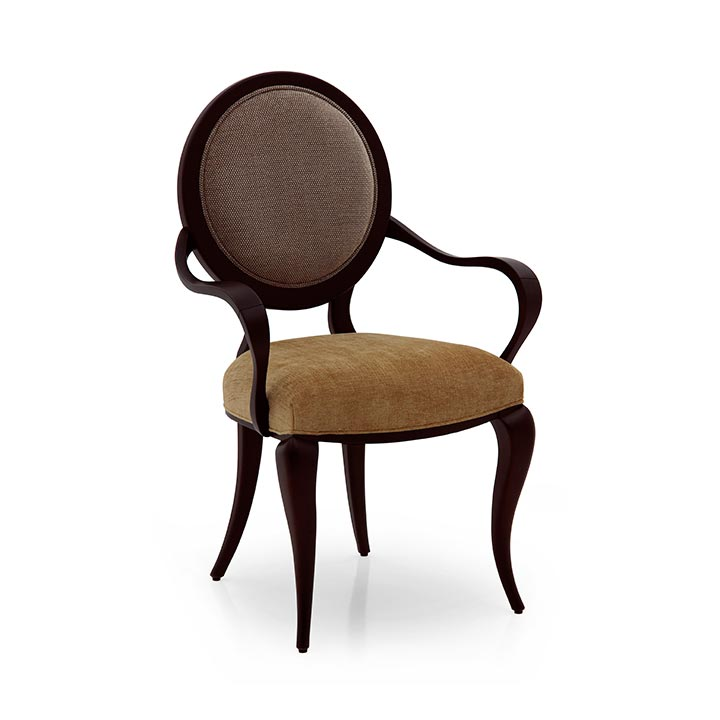 modern style wood armchair seneca 2333