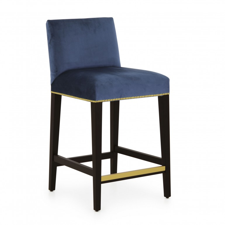 contemporary style wooden barstool