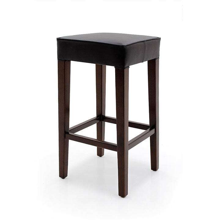 contemporary style wooden stool