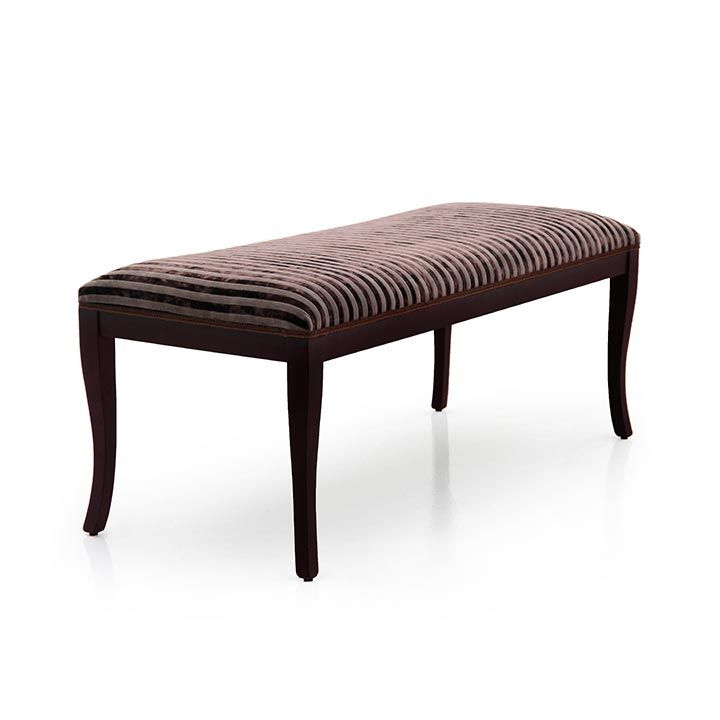 classic style wooden bench