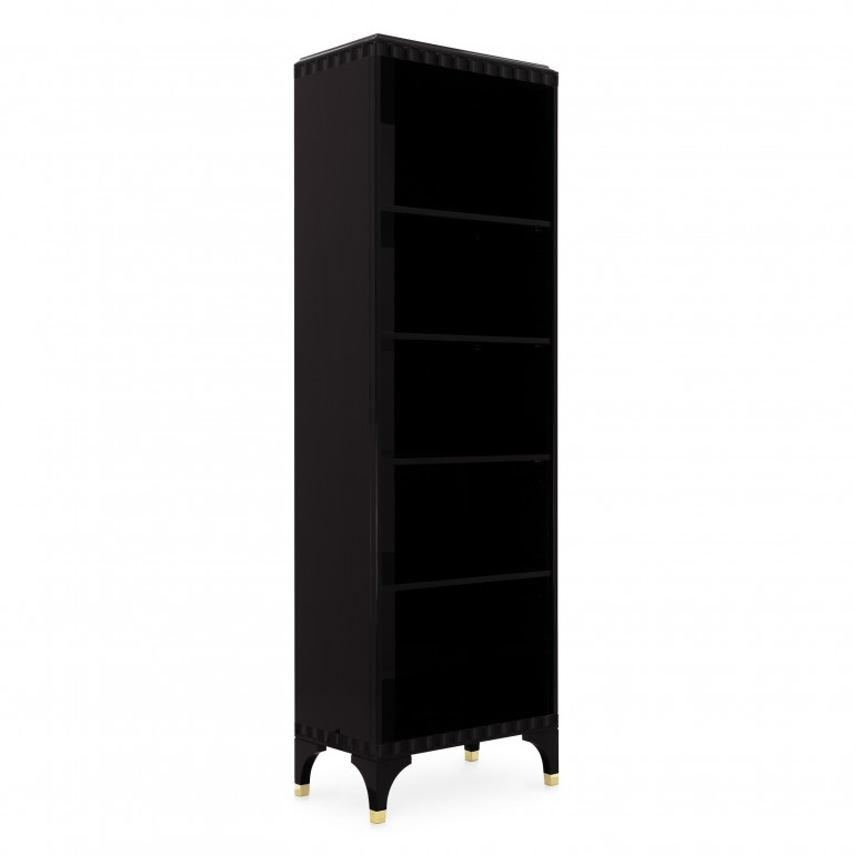 contemporary style wooden bookcase