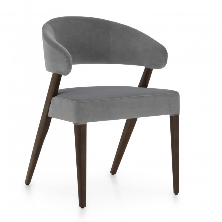 contemporary style chair with wood structure