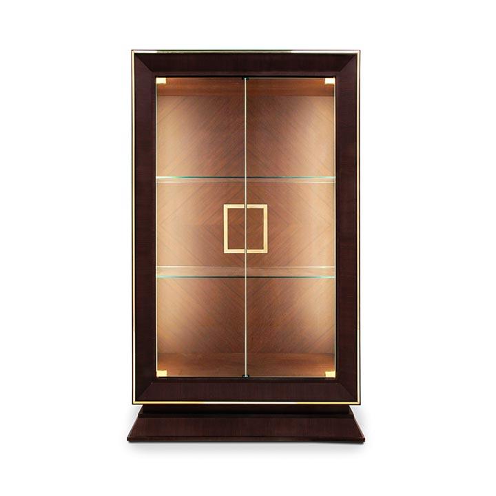 modern style wood glass cupboard cubica 10 7246