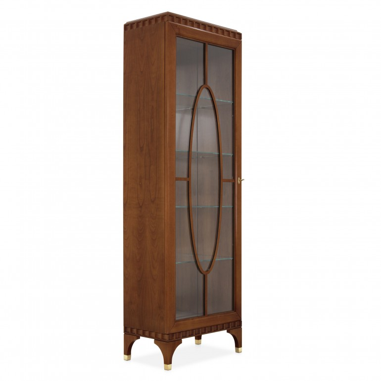 1 door display cabinet  in cherry wood finish, contemporary Italian design manufactury