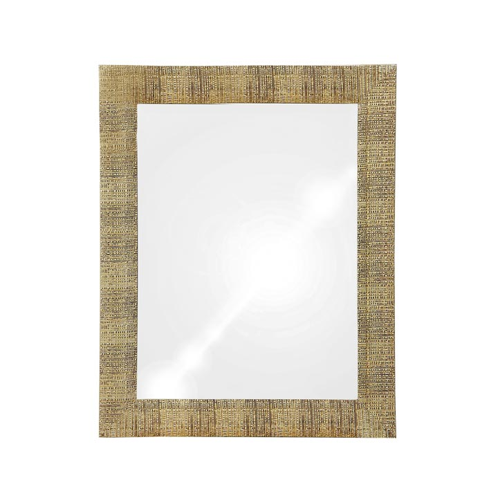 contemporary style wooden mirror